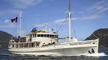 While others have been busy holding protests against the proposed Enbridge pipeline, Michael Uehara and David Suzuki have been planning to host dinner aboard the Pacific Yellowfin, a grand old ship built in 1943.The luxurious yacht, which plies the wild B.C. coast and boasts testimonials from the likes of Uma Thurman, is to be the site of an unusual trip next month, which will feature some of the top chefs in the country. (Courtesy of Pacific Yellowfin Charters/Courtesy of Pacific Yellowfin Charters)