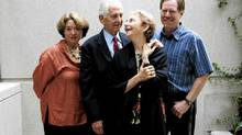 Daniel Ellsberg (centre) with his wife Patricia and filmmakers Judith Ehrlich and Rick Goldsmith. (Jim Ross for the Globe and Mail/Jim Ross for The Globe and Mail)