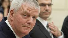 Former chief of defence staff Rick Hillier testifies at a parliamentary committee probing Afghan detainee transfers, Nov. 25, 2009. (Sean Kilpatrick)