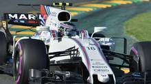 Williams' Canadian driver Lance Stroll powers through a corner during the Formula One Australian Grand Prix in Melbourne on March 26, 2017. (PAUL CROCK/AFP/Getty Images)