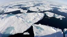 Ice floes float in Baffin Bay above the Arctic circle. A new report appears to add to the mounting evidence that global warming is changing the face of Canada's North. Statistics Canada says the average area covered by sea ice during summer has declined in all nine of Canada's northern sea-ice regions over the past four decades. (JONATHAN HAYWARD/JONATHAN HAYWARD/THE CANADIAN PRESS)