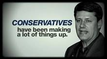 Screen capture from NDP attack ad released Oct. 9, 2012. (NDP/YouTube)