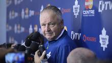 Randy Carlyle, head coach of the Toronto Maple Leafs, gains two-year extension. (Fred Lum/The Globe and Mail)