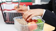 Having healthy snacks at work will prevent you from reaching for the cookie tray in meetings or junk food lying around the office. (istock)