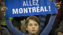 A young Montreal Impact soccer fan (Peter McCabe/The Canadian Press Images)