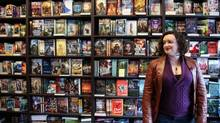 Madeline Ashby, science fiction writer and futurist, at Bakka Phoenix science fiction bookstore in Toronto. Her debut novel, entitled vN, is 'about a self-replicating humanoid with a female chassis named Amy, who eats her grandmother alive at kindergarten graduation.' (Rosa Park for The Globe and Mail)