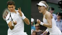 Canadian tennis stars Milos Raonic and Eugenie Bouchard