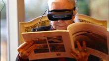 Esight's glasses use high-definition cameras to beam images to the peripheral vision, which is often still functioning for many people with low vision. (eSight)
