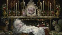 Detail of Awakening the Moon by Mark Ryden