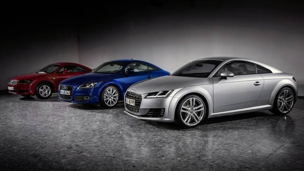 Three generations of the Audi TT (Audi)