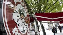 Ragazzi Pizza's street cart in Vancouver September 24, 2010. West side of 400 Burrard Street @ Pender (JOHN LEHMANN/John Lehmann/The Globe and Mail)