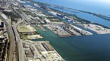 Toronto's Port Lands stretches from the inner harbour to Leslie Street south of Lake Shore Blvd. (Michelle Siu/The Globe and Mail/Michelle Siu/The Globe and Mail)
