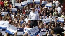Republican Mitt Romney campaigns in Michigan on Aug. 24, 2012. (Paul Sancya/Associated Press)