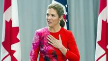 Sophie Grégoire-Trudeau told the newspaper Le Soleil earlier this week that she and her assistant can't manage the number of requests that come her way. (Cliff Owen/AP)