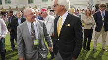Charles Fipke, left, and trainer Bob Baffert before the 2013 Kentucky Derby. (David Stephenson For The Globe and Mail)