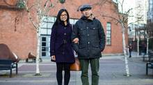 Genesis Rigor and her fiancé, Matthew Castillo, say that Vancover's market may have cooled, but buying a home is still stressful. (Ben Nelms/The Globe and Mail)