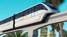 Bombardier's work involves system interface management, project management and design, as well as the delivery of 47 two-car driverless Innovia Metro 300 trains equipped with the company's Mitrac propulsion technology. (Handout)