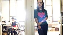 Nicole Wang, 17, pictured at her high school in Edmonton on October 31, 2012. (JASON FRANSON For The Globe and Mail)