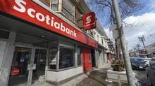 The Scotiabank branch at 2080 Queen St. East in Toronto's Beach neighbourhood is photographed on March 5, 2014. (Fred Lum/Fred Lum/The Globe and Mail)