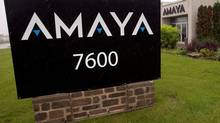 The Amaya Gaming Group headquarters are seen Friday, June 13, 2014 in Montreal. Allegations of insider trading against 13 people affiliated with the ex-CEO of online gaming company Amaya Inc. will be discussed this morning at a hearing by an independent tribunal overseeing Quebec's financial sector. THE CANADIAN PRESS/Ryan Remiorz