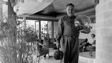Fred Hollingsworth is seen in 1961 in Trethewey Residence I, a home he designed in Abbotsford, B.C. (Selwyn Pullan/Courtesy of the West Vancouver Museum)