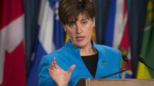 International Development Minister Marie-Claude Bibeau speaks during a news conference in Ottawa on Nov. 16, 2016. (Adrian Wyld/THE CANADIAN PRESS)