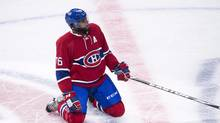 P.K. Subban says he got a slap on the wrist from his parents for his profanity-laced comments after a loss to the Pittsburgh Penguins on the weekend. (Paul Chiasson/THE CANADIAN PRESS)
