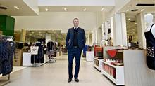 Simons CEO Peter Simons in his Edmonton store. (Jason Franson for The Globe and Mail)