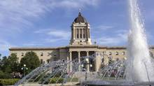 The Manitoba legislature is shown in Winnipeg. The province's NDP government is trying to wipe out the deficit by the 2016-17 fiscal year. (TIM POHL/GETTY IMAGES/iSTOCKPHOTO)