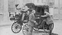 Mercedes-Benz claims to have sold the first taxi in 1897. (Mercedes-Benz)