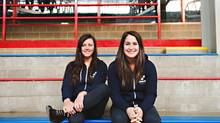 Emily Rudow and Kayla Nezon from Oneiric Hockey