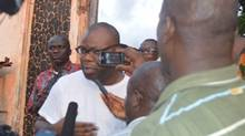 Rodney Sieh is interviewed after his release from prison in Liberia (Tecee Boley/FPA/FrontPage Africa)