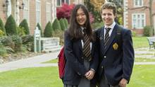 Students at Ridley College, a boarding and day school in St. Catharines, Ont. (Courtesy Ridley College.)