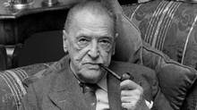 Somerset Maugham: 'a grim figure; rat-eyed, dead-man-cheeked, unshaven; a criminal I should have said had I met him in a bus'