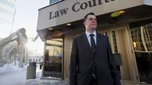 Kael McKenzie, at the Law Courts in Winnipeg Manitoba, is the first openly-transgender judge in Canada. (Lyle Stafford for The Globe and Mail)
