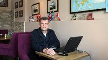 Canadian Kevin Garratt, seen in 2013 at his coffee shop in Dandong, China, has been detained since August, 2014. (Jack Chen For The Globe and Mail)