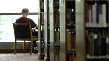 A quiet corner of the Toronto Public Library branch at College and Huron streets. (Fred Lum/The Globe and Mail)
