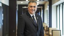 Prince Reza Pahlavi during an interview with the Globe and Mail in Toronto. (Della Rollins for The Globe and Mail)