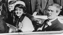 John F. Kennedy and Jacqueline Kennedy in Dallas on Nov. 22, 1963. (AP)