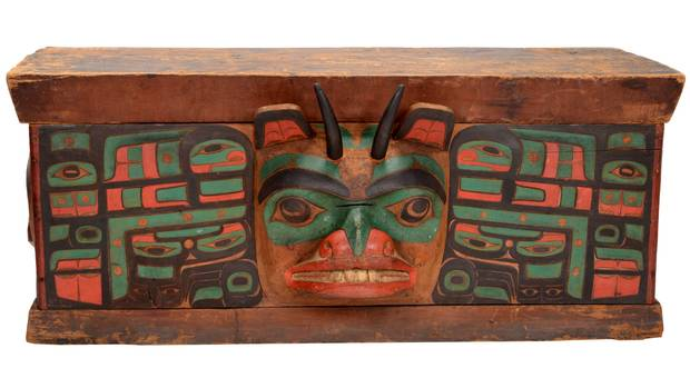 This mountain goat moon chest has temporarily come home to Haida Gwaii after a pioneering agreement between the Haida and the American Museum of Natural History.
