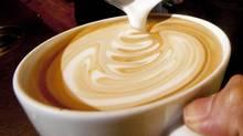 Latte art at Caffe Artigiano in Vancouver, Jan. 28, 2010. (John Lehmann/The Globe and Mail)