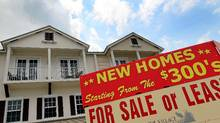 New homes in search of buyers in Davie, Florida. U.S. real estate, now much more affordable, has become a big draw for retiring Canadian baby boomers. JOE RAEDLE/GETTY IMAGES (JOE RAEDLE/GETTY IMAGES)