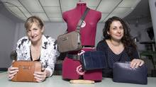 Mathilde Einhorn, left, and Nicole Lefebvre designed the Holdur bag. (Christinne Muschi For The Globe and Mail)