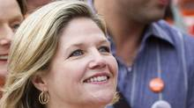 Ontario NDP Leader Andrea Horwath marches in Toronto's Labour Day parade, Sept. 5, 2011. (Darren Calabrese)