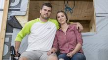 Tyson Leavitt and wife Audrey of Charmed Playhouses. (Chris Bolin For The Globe and Mail)