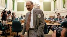 Munir Sheikh, former chief of Statistics Canada, takes his seat at a House of Commons committee hearing looking into changes in the long-form census last Tuesday. (Fred Chartrand/The Canadian Press)