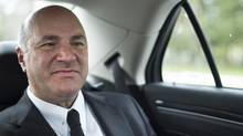 Kevin O'Leary heads back to his Toronto office after meeting with party members in Hamilton on April 26 2017. (Fred Lum/The Globe and Mail)