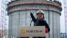B.C. Premier Christy Clark and four of her top cabinet ministers will press their case in Ottawa this week to keep the province's economic momentum going, including seeking support for exporting liquefied natural gas. (DARRYL DYCK/THE GLOBE AND MAIL)