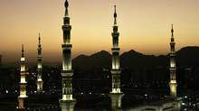 A view of the minarets of the Mosque of Prophet Mohammad in the holy city of Medina. (ALI JAREKJI/REUTERS)