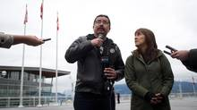 Dini Ze Toghestiy and his wife, Freda Huson, are determined to continue their blockade. (DARRYL DYCK/THE CANADIAN PRESS)